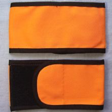 Plain Wrap Armband - Orange & Black